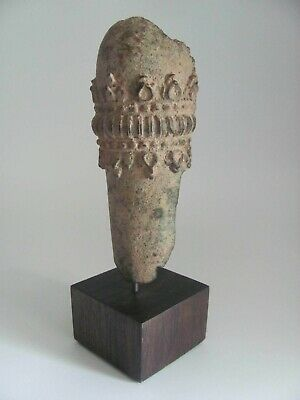 Mounted Antique Bronze Buddhist Arm Fragment from Thailand