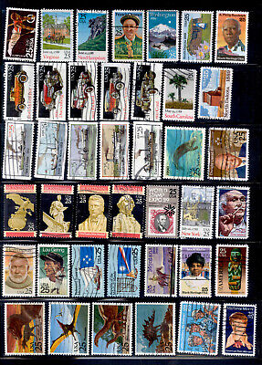 25 Cent 75 Stamps US Used Lot 1988-1991
