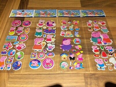 10 x PEPPA PIG, Sticker strips -  Party Bag Fillers Birthday party favours