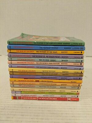 Lot of 17 The Boxcar Children Books Paperback vintage and newer Free Shipping!!