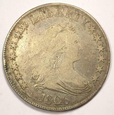 1806 Draped Bust Half Dollar 50C - Fine Details Condition - Rare Early Coin!