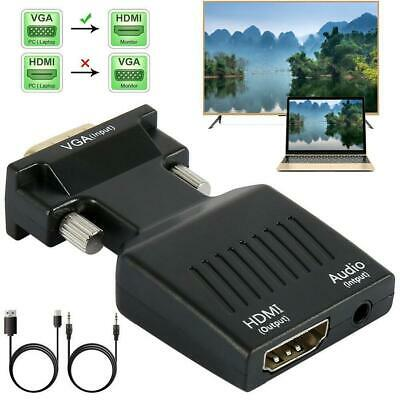 VGA To HDMI Adapter Full HD 1080P Audio Video Converter Laptop PC To TV AV Best