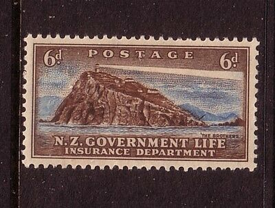 NEW ZEALAND....  1947 life insurance  6d brothers lighthouse  mnh