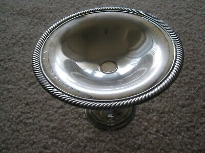 "Vintage WM Rogers Silver Plated 7 1/2"" Candy Dish/Pedestal"