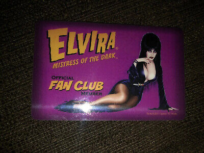Rare Original Out of Print Elvira Fan Club Card