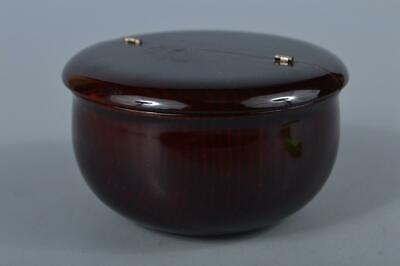 M385:Japanese Wood Hida Shunkei lacquer ware TEA CADDY Natsume Chaire Container