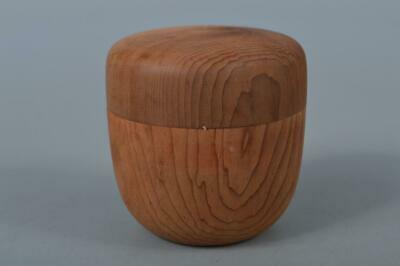 M510: Japanese Wooden Cedars TEA CADDY Natsume Chaire Container Tea Ceremony