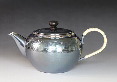 GINSENDO Oolong tea pot Kyusu Small teapot Sterling Silver Plated New Unused