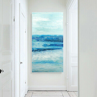 Modern Abstract Hand Painted Canvas Oil Painting Home Decor Framed Seaside