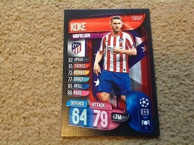 Match Attax 2019/2020 Koke Athletico Madrid base card Mint New & Rare POST FREE