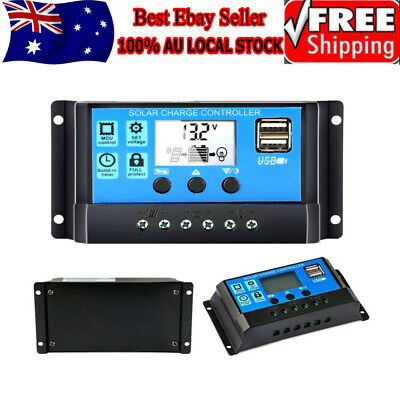 10-30A Solar Panel Regulator Battery Charger Controller 12/24V With LCD USB