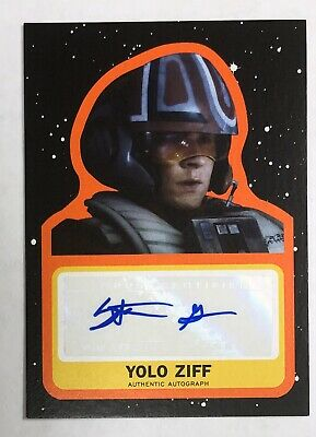 Journey To Star Wars RISE OF SKYWALKER - YOLO ZIFF - Stefan Grube 12/50 AUTO