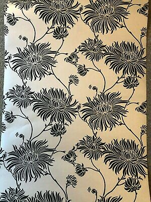 2 x New Roll Laura Ashley Superior Quality Wallpaper Kimono Charcoal/Linen