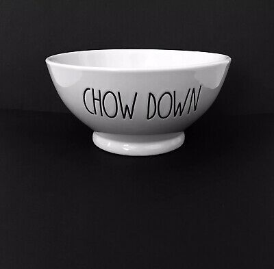 NEW Rae Dunn CHOW DOWN LL Cereal / Soup / Ice Cream Bowl