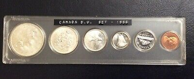 The  Old Canada Silver Coins Mint 1965 Bu Set Uncirculated.# 7.