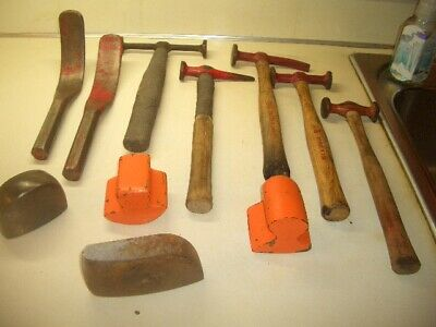 Lot Of Vintage Auto Body Tools Dollies Spoons Hammers Mac New Britain Other