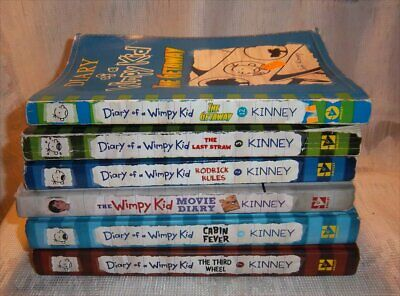 Lot of 6 DIARY OF A WIMPY KID Books - Jeff Kinney