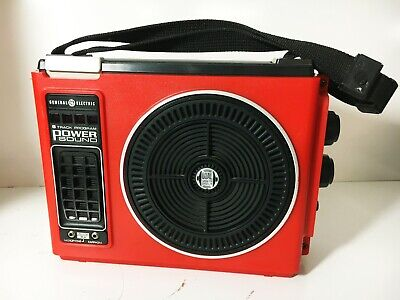 Red General Electric GE 8 Track Tape Player  (Just Serviced & See Video)