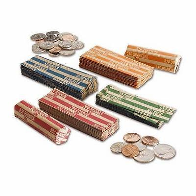 25 Coin Wrappers (25 of each: Penny, Nickel, Dime, Quarter) or custom mix!