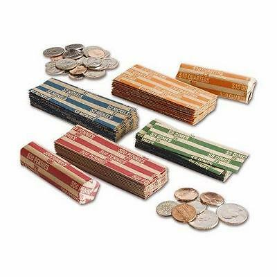 25 Coin Wrappers (6 of each: Nickel, Dime, Quarter and 7 penny) or custom mix!