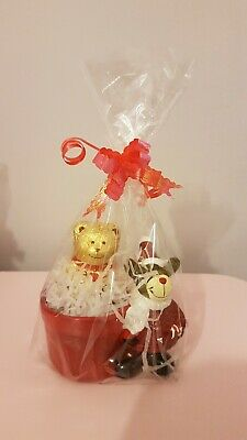 Lindt Lindor Chocolate Bear In Christmas Pot Gift Wrapped Teachers Gift