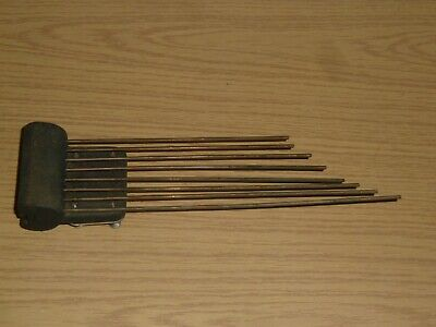 Vintage chime bar with eight rods
