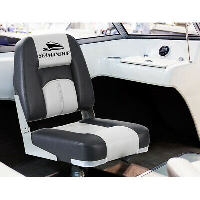 Seamanship 2X Grey Folding Boat Seats Seat Marine Seating Swivels All Weather
