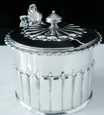 Large Antique Silver Mustard Pot, London 1797, George Gray