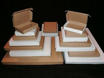 Large Letter Single Wall Postal Cardboard Boxes, Small Mailing Shipping Cartons