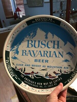 Busch Barvarian  Beer Tray w/mountain background