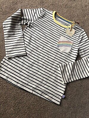 Little Bird By Jools Oliver Stripe T-shirt With Rainbow Pocket 8-9 Years