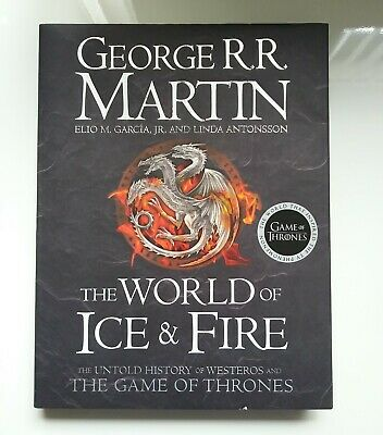 GAME OF THRONES World of Ice and Fire By George R. R. Martin Hardcover BOOK