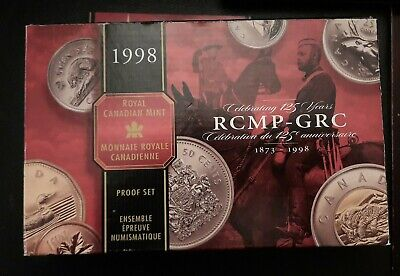 The Canada Commemorative Sterling Silver 1998 Coins Set - Rcm Anniversary.