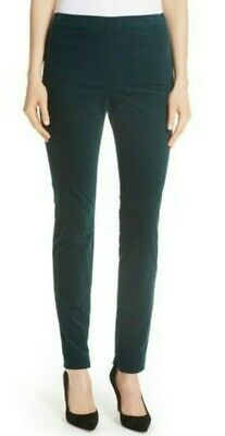 Theory Womens Oslo Corduroy Skinny Legging Pants 8 Hunter Green Mid Rise Stretch