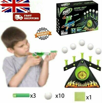 Hover Floating Target Air Shot Game Foam Dart Blaster Shooting Ball Toy Gifts UK