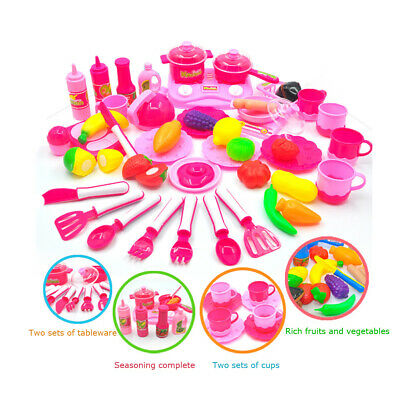 30Pcs Kids Pretend Role Play Food Kitchen Toys Childrens Cooking Set Utensils
