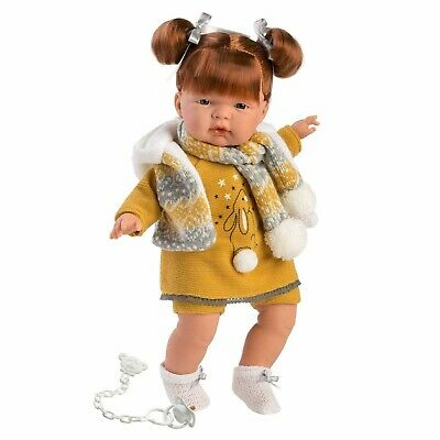 Llorens Doll Kate Soft Body Crying Toddler Girl 38cm New 38338