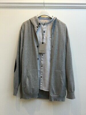 Zara Boys Shirt And Cardigan Set Age 11-12 BNWT Light Grey