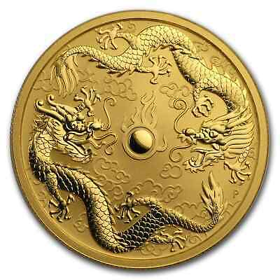 2020 Australia 1 oz Gold Double Dragon BU - SKU#204140