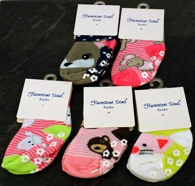Toddler, Girl, ABS Cotton Blend, Anti Non Slip Socks, Size 12-24 Months Animals