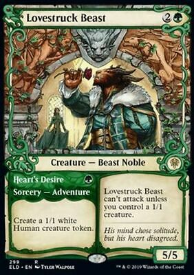 *Magic MtG: Lovestruck Beast // Heart's Desire (Rare) - Throne of Eldraine *TOP*