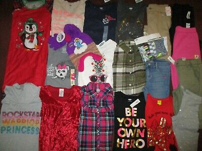 Girls 26pc HUGE Size 10-12 FALL WINTER SCHOOL Name Brand Clothing Lot OLD NAVY