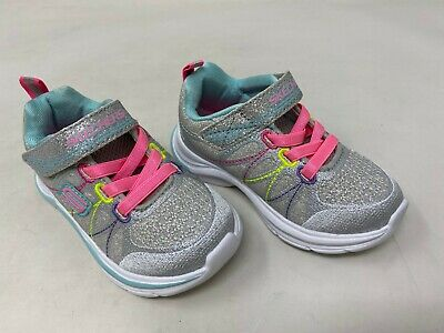 New Girls Skechers 81498 Swift Kicks Sneakers Charcoal//Turquoise O36 Toddler
