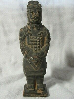 """Vintage Chinese TERRACOTTA WARRIOR Qin Shi Huang Soldier - 4½"""" Miniature"""
