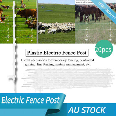20X Strip Graze Tread In Poly Posts Electric Fence Wire Tape Fencing Post Graze