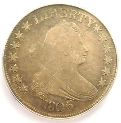 1806 Draped Bust Half Dollar 50C Coin - Certified ICG F12 - Rare Coin!