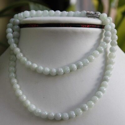 100% Natural Untreated (Grade A) Jadeite JADE Light Green Beads Necklace