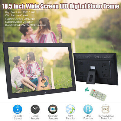 """PRO 18.5"""" HD Digital LED Photo Frame Album Picture MP4 Movie Player+Remote N4O5"""