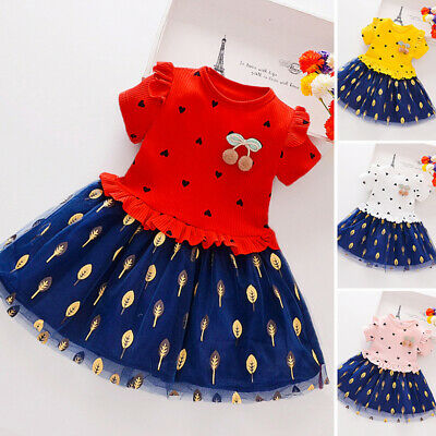 Kids Girls dress Children Toddlers Party Girls dress A Line Princess Lovely
