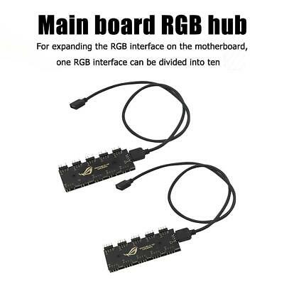 10 RGB Synchronization HUB Splitter Extension Cable for Motherboard Fan